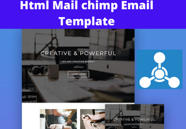 i will create responsive mailchimp email tamplatate