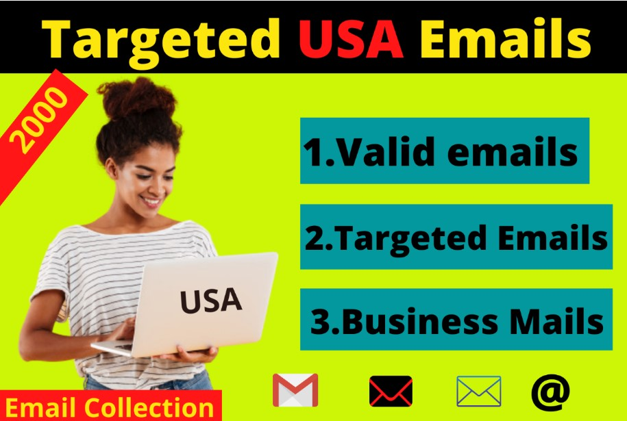 I Will Provide You 2000 Verified USA Email List with clean format