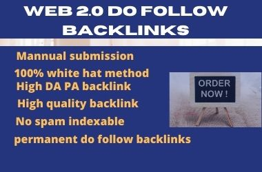 I will create 30+ permanent web 2.0 backlinks manually
