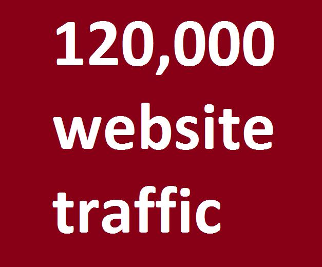 safe organic 120,000 website traffic from facebook,  instagram,  youtube,  twitter,  linkedin