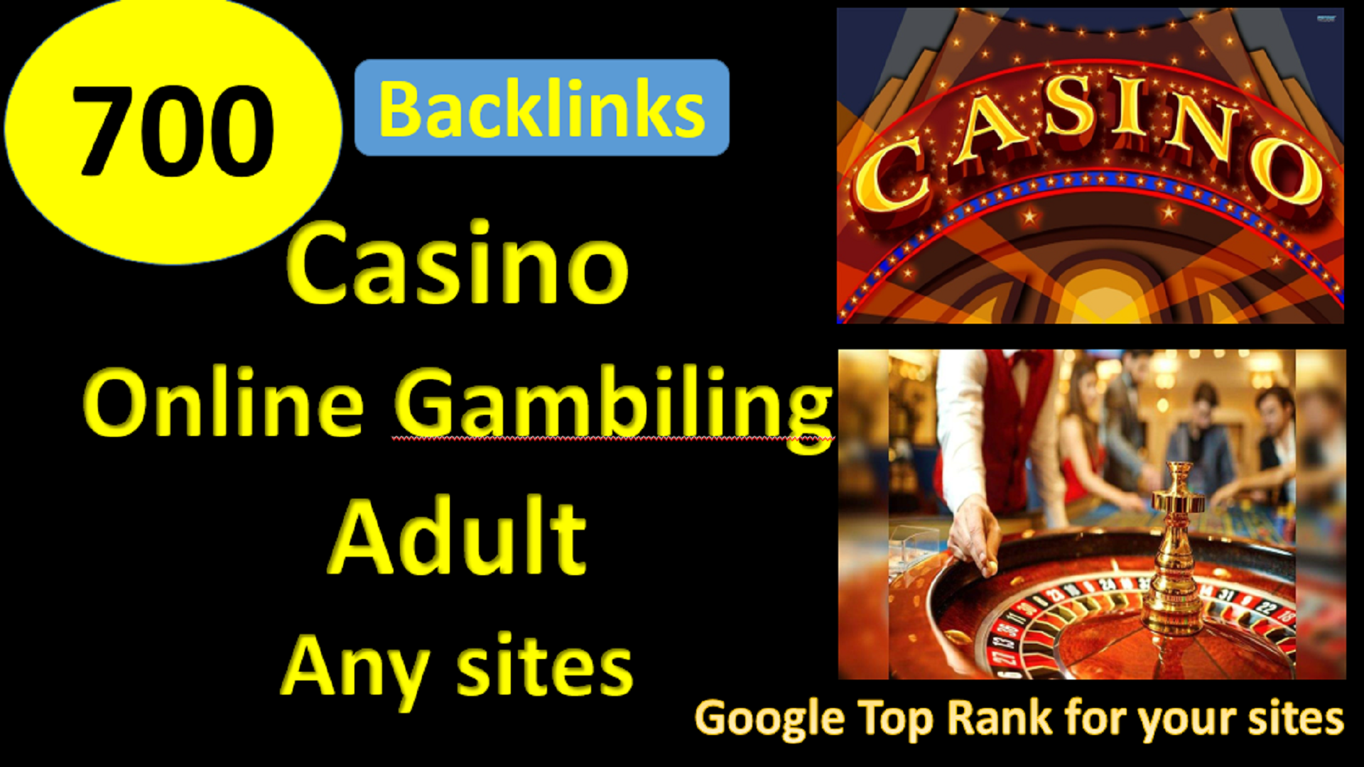 700+Webpbn,  Profile,  EDU,  Blog comment, CASINO/GAMBILING/ ADULT SITES/ ANY SITES FOR GOOGLE 1ST PAGE