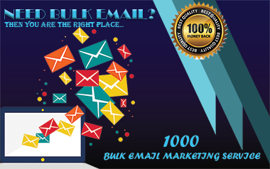 I will provide you 1000 bulk email list very fast delivery