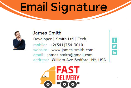 I will professional clickable and beautiful HTML email signature