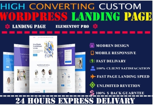I will create wordpress modern landing page design