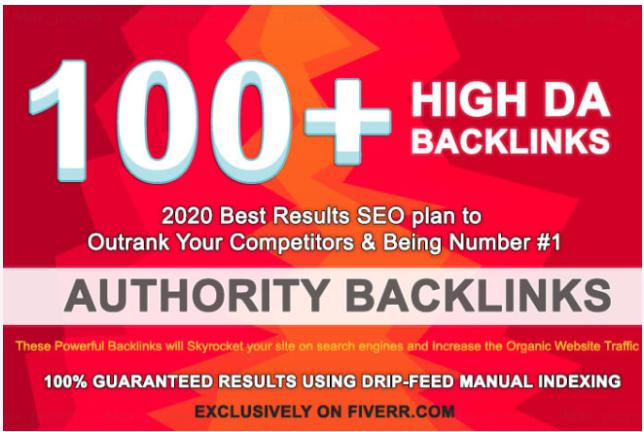 I will build 100 high da dofollow backlinks