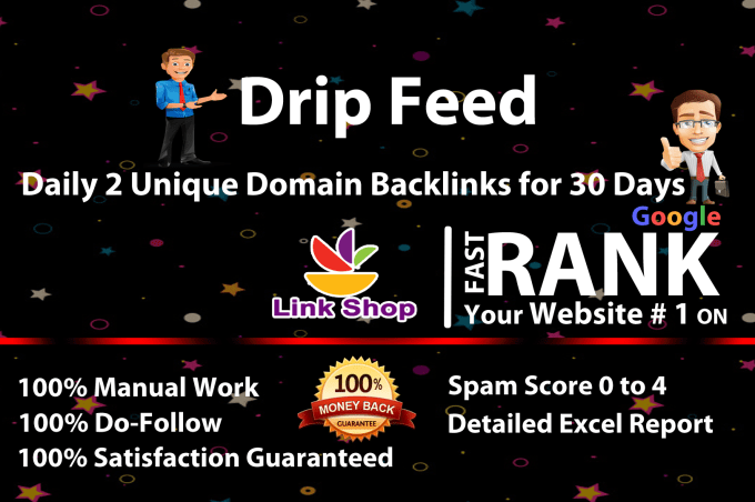 Rank 1 Google page by exclusive monthly seo High Quality drip feed backlink