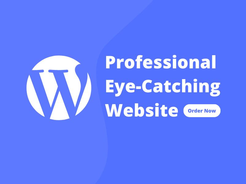 I will create a professional website using wordpress