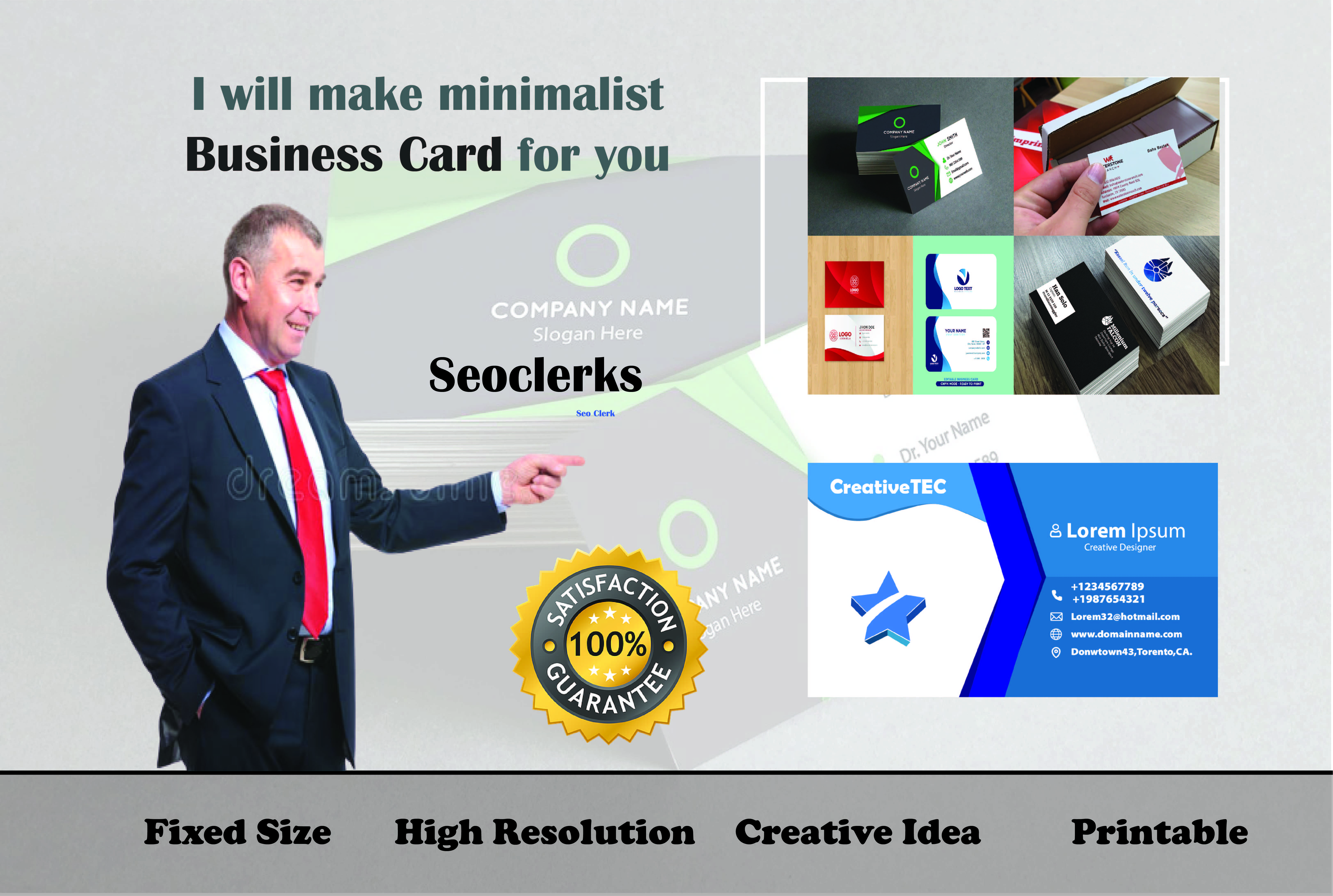 Make awesome and professional Business Card for you