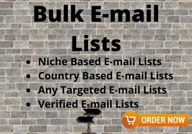 I will provide 1000 Niche Targeted Bulk Email Lists