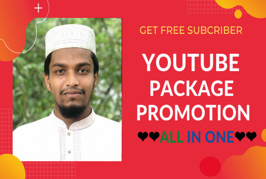 I WILL DO HIGH QUALITY YouTube PACKAGE PROMOTION Services with Instantly Delivery