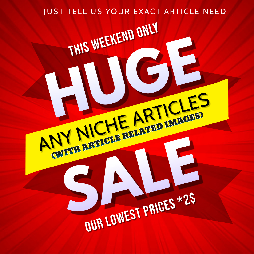I will Give PLR Articles on Niche Subject
