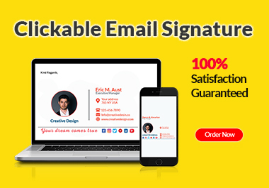 I will make clickable email signature for Gmail in 24 hours