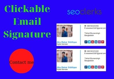 I will make your clickable email signature