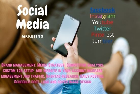 I can provide social media management services