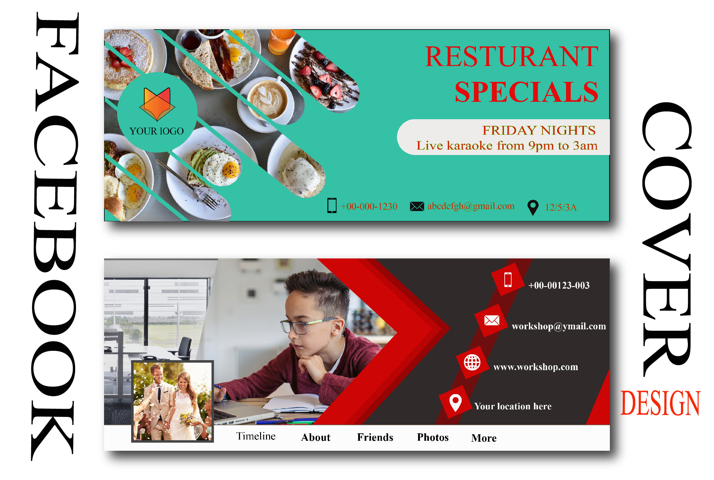 I will design awesome looking web banner,  cover and ads