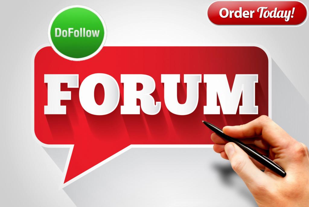 40 High Quality google ranking Forum Backlinks