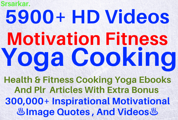 5900 HD videos For motivation,  fitness,  yoga,  cooking extra bonus
