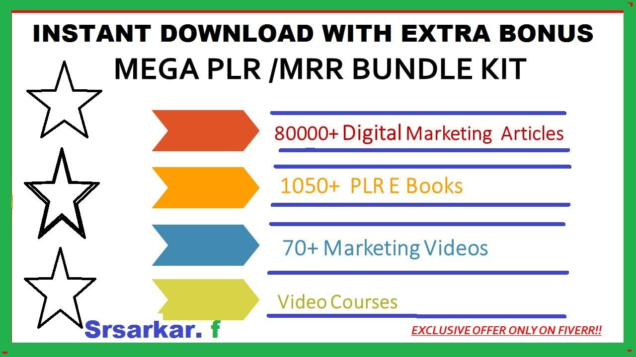 give 80k digital marketing plr articles 1050 ebooks 70 video