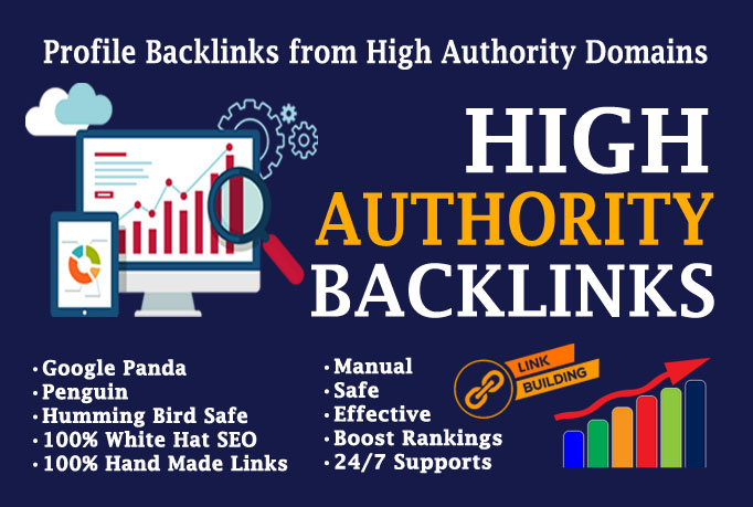 I will create 30 high quality authority SEO dofollow backlinks