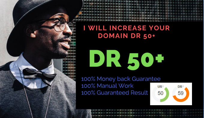 I will increase domain rating DR ahrefs 50 plus to 60