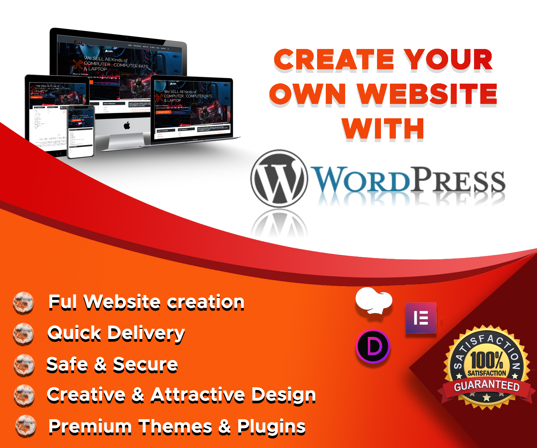 Design professional and responsive eCommerce website