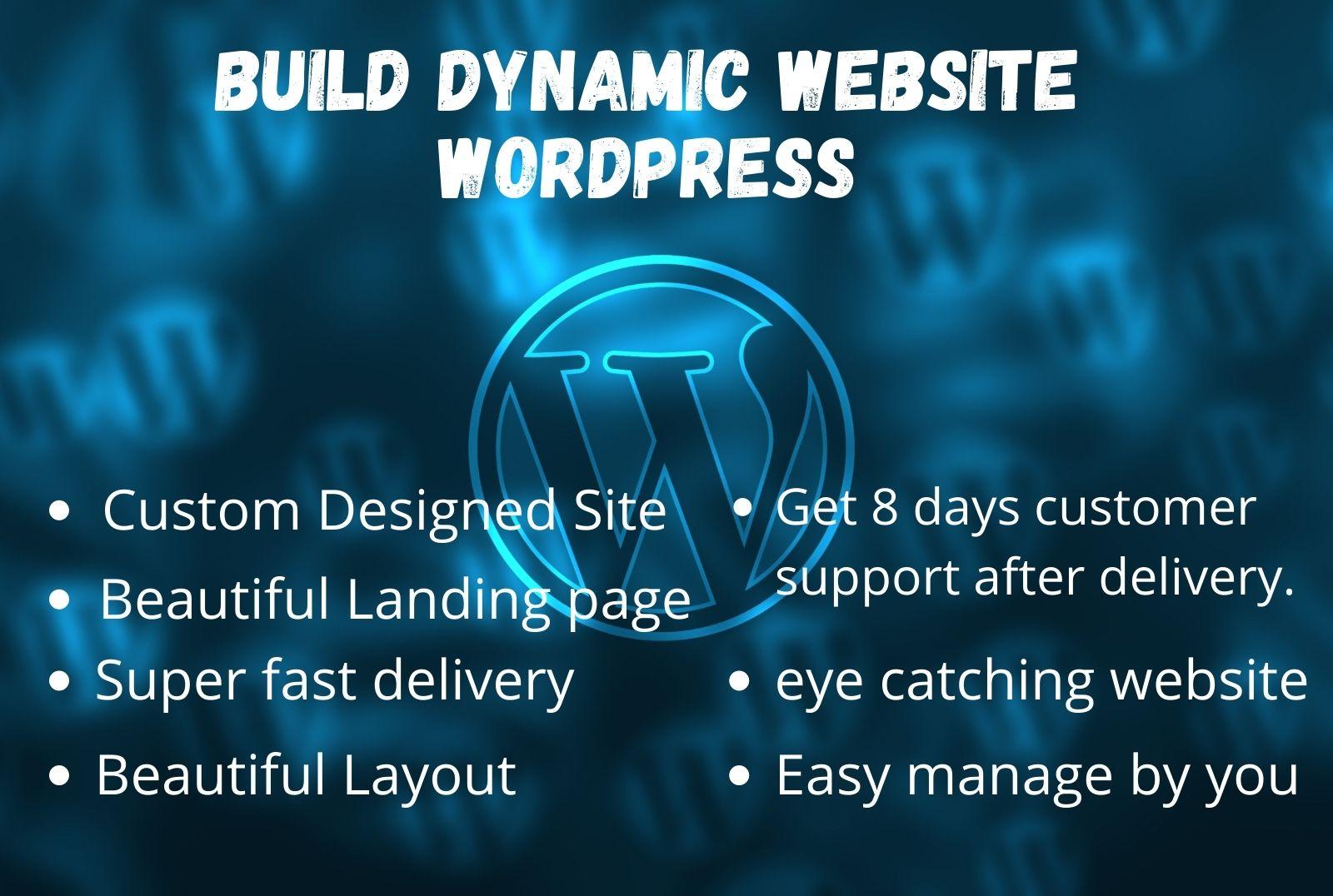 i will create professional wordpress website and theme customize