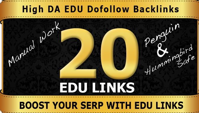 We Will Do 20 Plus US Based Edu Gov Links Manually On DA90 PR9 Unique Domains