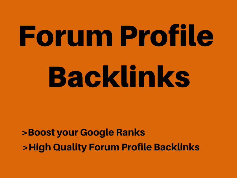 I will provide you 200+ Forum Profile Backlinks