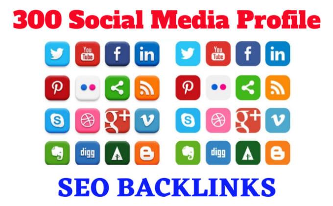 I will do High Quality social media profile SEO backlinks,  link-building