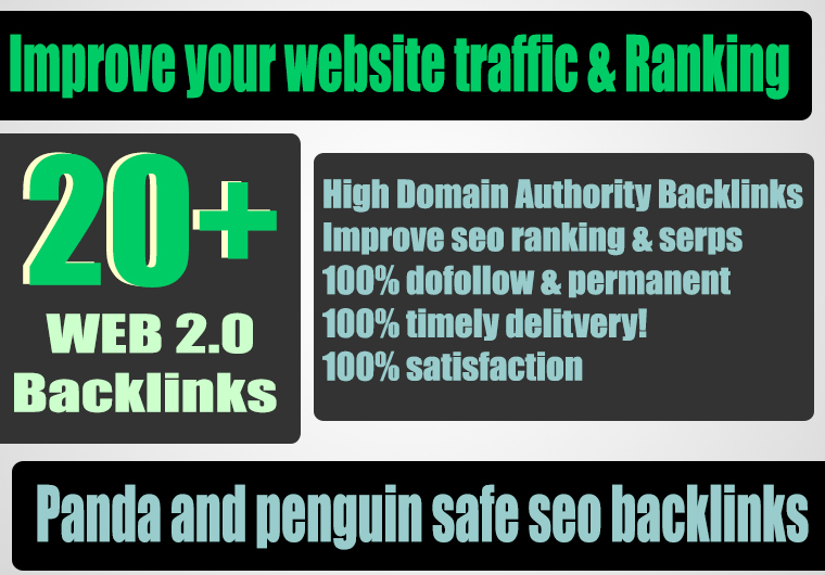 Build 20+ Backlink with high DA 38+ PA 40+,DOFOLLOW with 20+ Unique website
