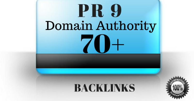 Get PR9 - Domain Authority 70+