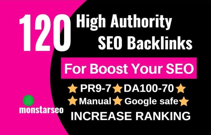 do 120 white hat SEO high authority backlinks service