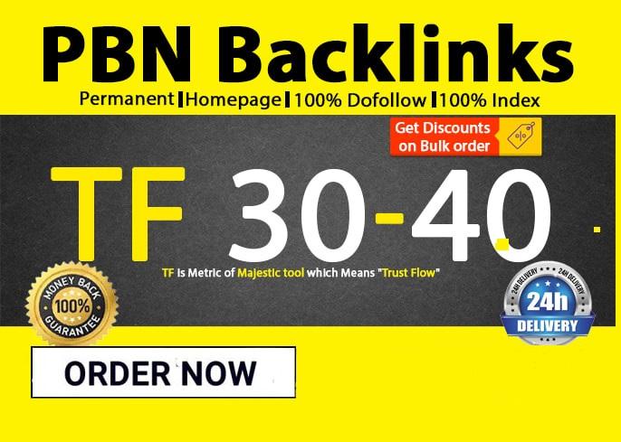 make 30 high tf homepage pbn backlinks
