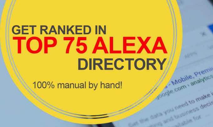 Provide submission to Top 75 Alexa Ranking Sites Manually