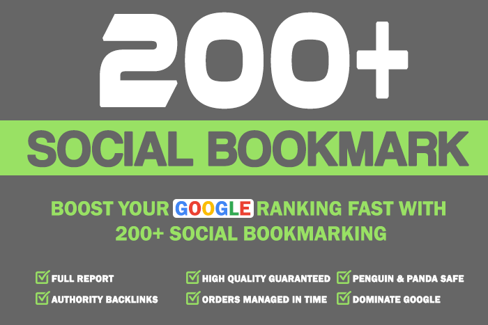 Get 200 HQ Social Bookmarks Backlinks for your Website and Youtube