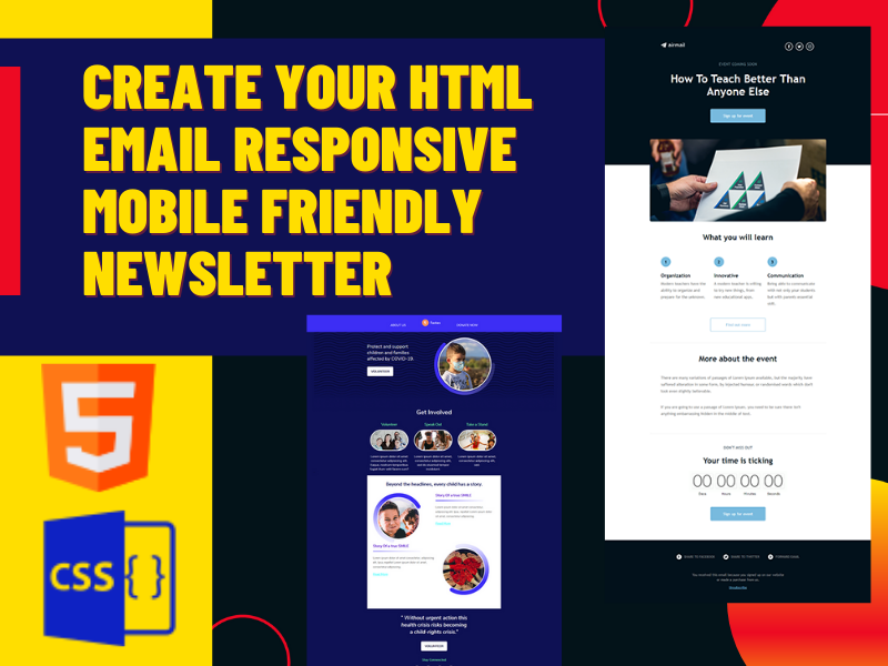 Create your Responsive email newsletter template