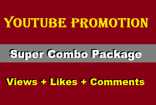 Organic YouTube VIDEO and CHANEL Promotion with Combo Package