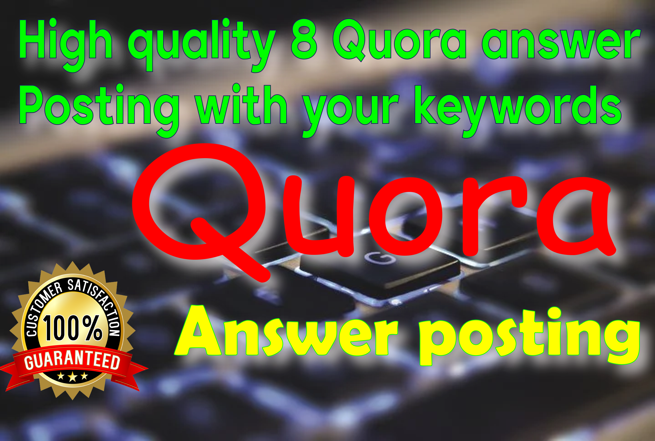High quality 8 Quora answer to promote your website with backlink