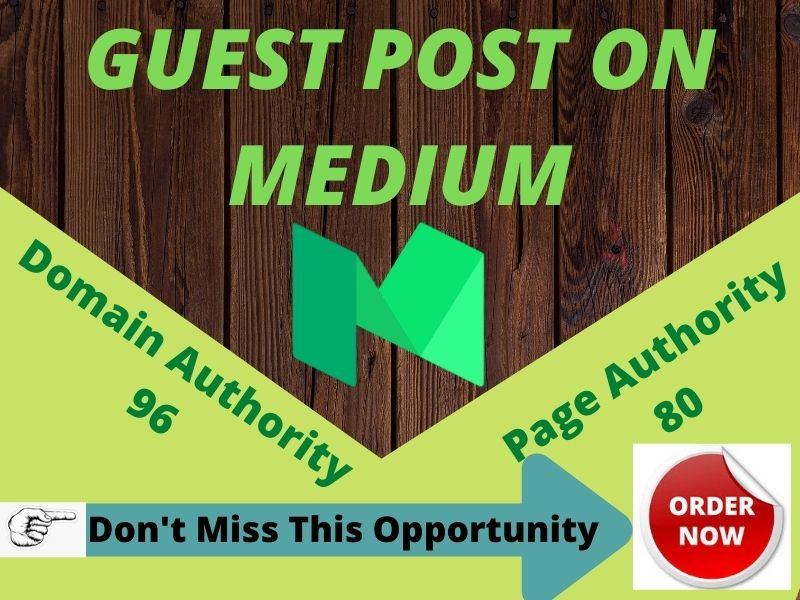 I will provide a unique guest post on MEDIUM with manual article.