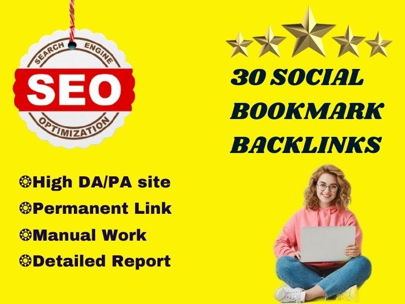 Manually Social Bookmarking Provider on High DA/PA site