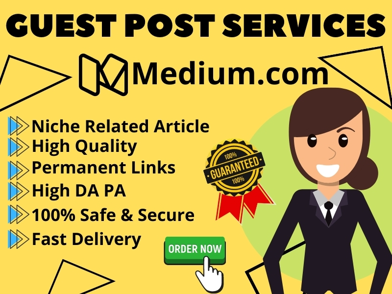 I will Write & Publish Guest Post Content On Medium High DA PA for SEO Rank With Permanent Backlinks