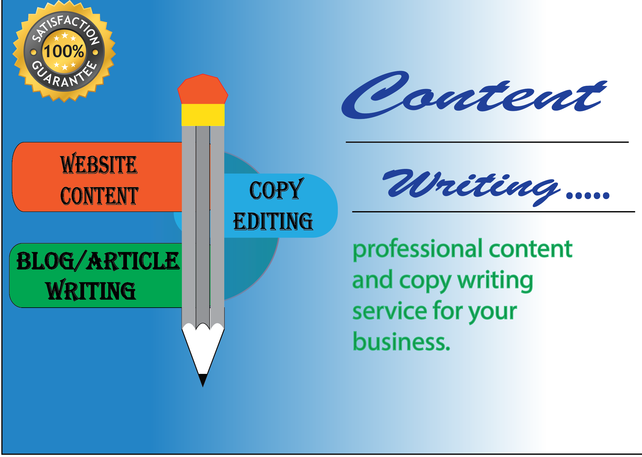 Do best writing 6x1500 words article writing or content writing for any topic.