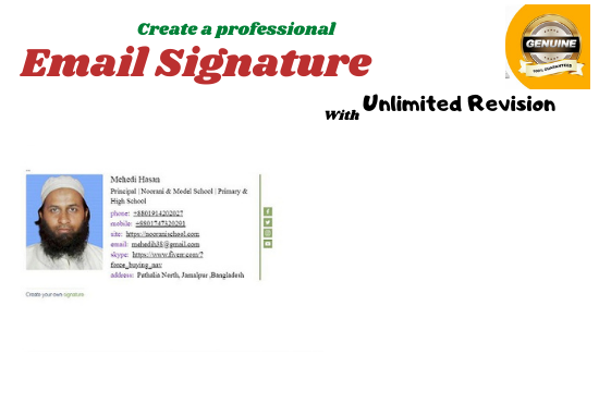 I will create Excellent HTML Professional email signature