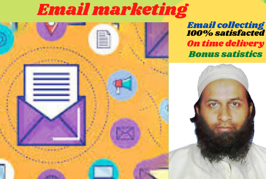 I will do email marketing,  collecting,  scraping for your business