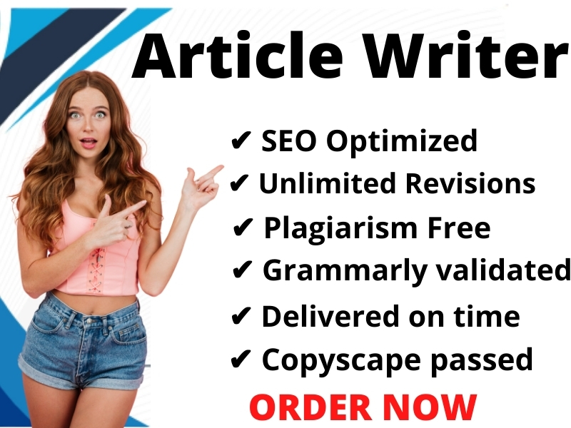 I will be Your SEO website content writer Article and Blog Writer