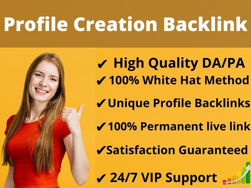 I Will Create Manually 30 Social Profile Creation Backlinks For increase your website Authority
