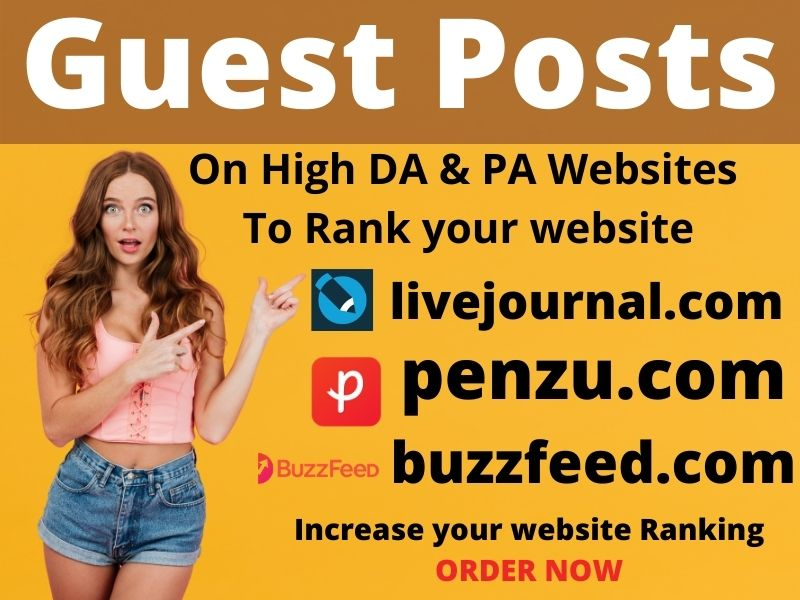 Write & Publish 10 niche related guest post 80+ blogs with permanent backlinks