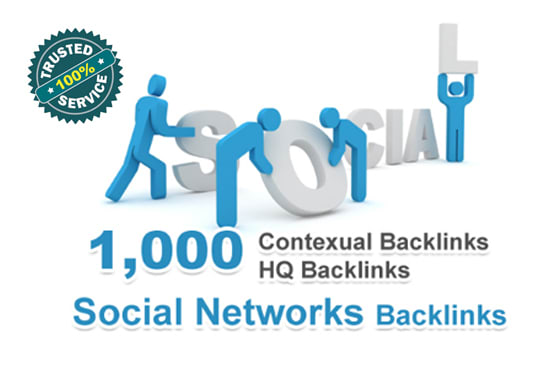 Provide 1000 Contextual backlinks from social networks articles
