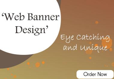 I will do professional 3D web banner design.