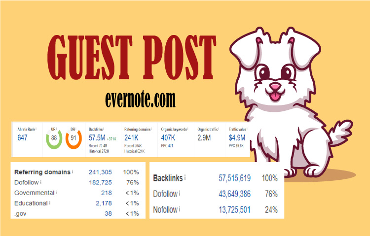 I will do high da guest post on Evernote- 500+ word per content .